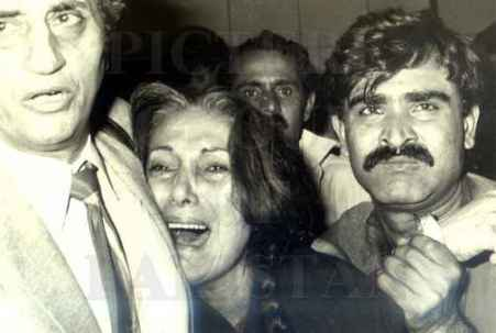 Pakistan's Prime Minister, Zulfiqar Bhutto's wife, Nusrat Bhutto. She helplessly saw her family killed by Pakistan's military establishment in pursuit of democracy,
