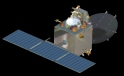 The Mangalyaan orbital probe on its mission to Mars.  Indian Space Research Organisation