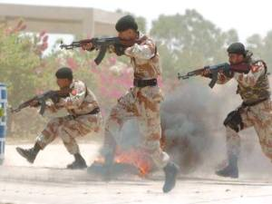 File photo: Pakistani Security forces indiscriminately firing  on peaceful gathering by the students of university of Sindh. - Photo credits: Social media + Internet