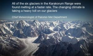 The climate change takes a heavy toll on glaciers.—Photo courtesy Creative Commons