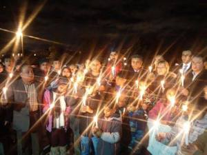 Candlelit Vigil in Brampton, for the victims of Peshawar incident.