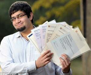Case studies of students like Ali Moeen Nawazish, who broke a world record by passing 23 A-levels, were quoted in the study